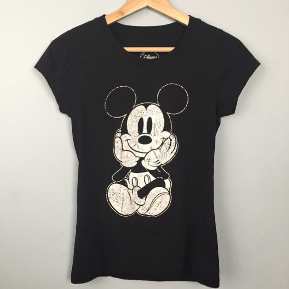AiguanMickey Mouse Clock Toddler//Infant Short Sleeve Cotton T Shirts Black